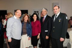 Yaakov and Marsha Motzen with Evelyn and Dr. Shmuel Katz of Bal Harbour, who graciously arranged for the evening with Cantor Abramson and the IDF Ensemble