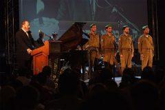 Yaakov and IDF soldiers celebrating Yom HaZikaron